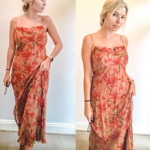"Anthropologie ""BHLDN"" Silk Floral Gown"
